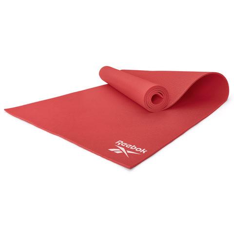 RAYG-11022RD Тренировочный коврик (мат) для йоги Reebok красный 4мм
