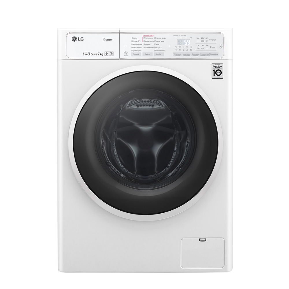 Узкая стиральная машина LG с функцией пара Steam F2H6HS0B фото