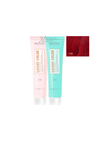 Expert Color Hair Color Cream 7/55 русый интенсивный красный 100 мл