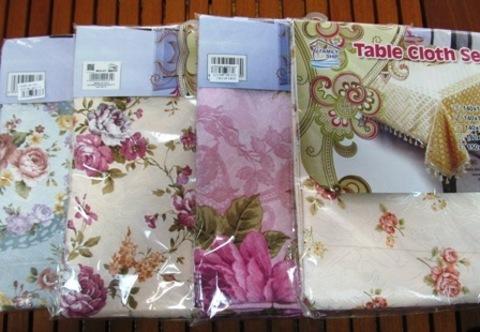 Скатерть для стола 140х140 шелк,цветы 4-7-5