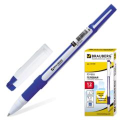 141184 Ручка гелевая, игольчатый пишущий узел 0,5мм, синий (12шт)