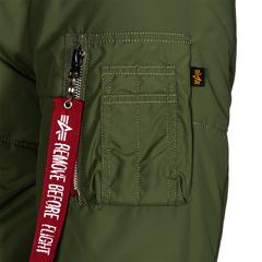 Теплая куртка Alpha Industries MA-1 Natus Quilted Sage (Зеленая)