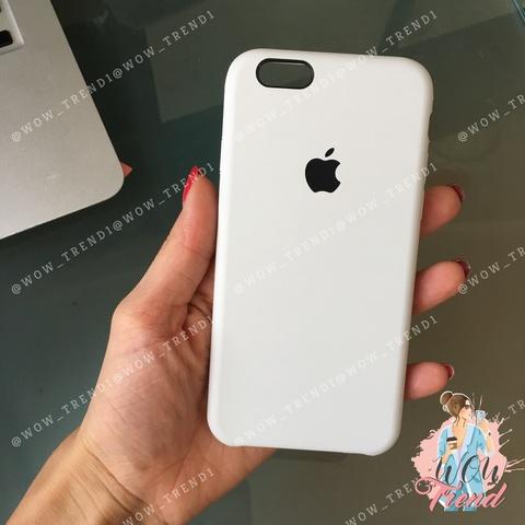 Чехол iPhone 6+/6s+ Silicone Case /white/ белый 1:1