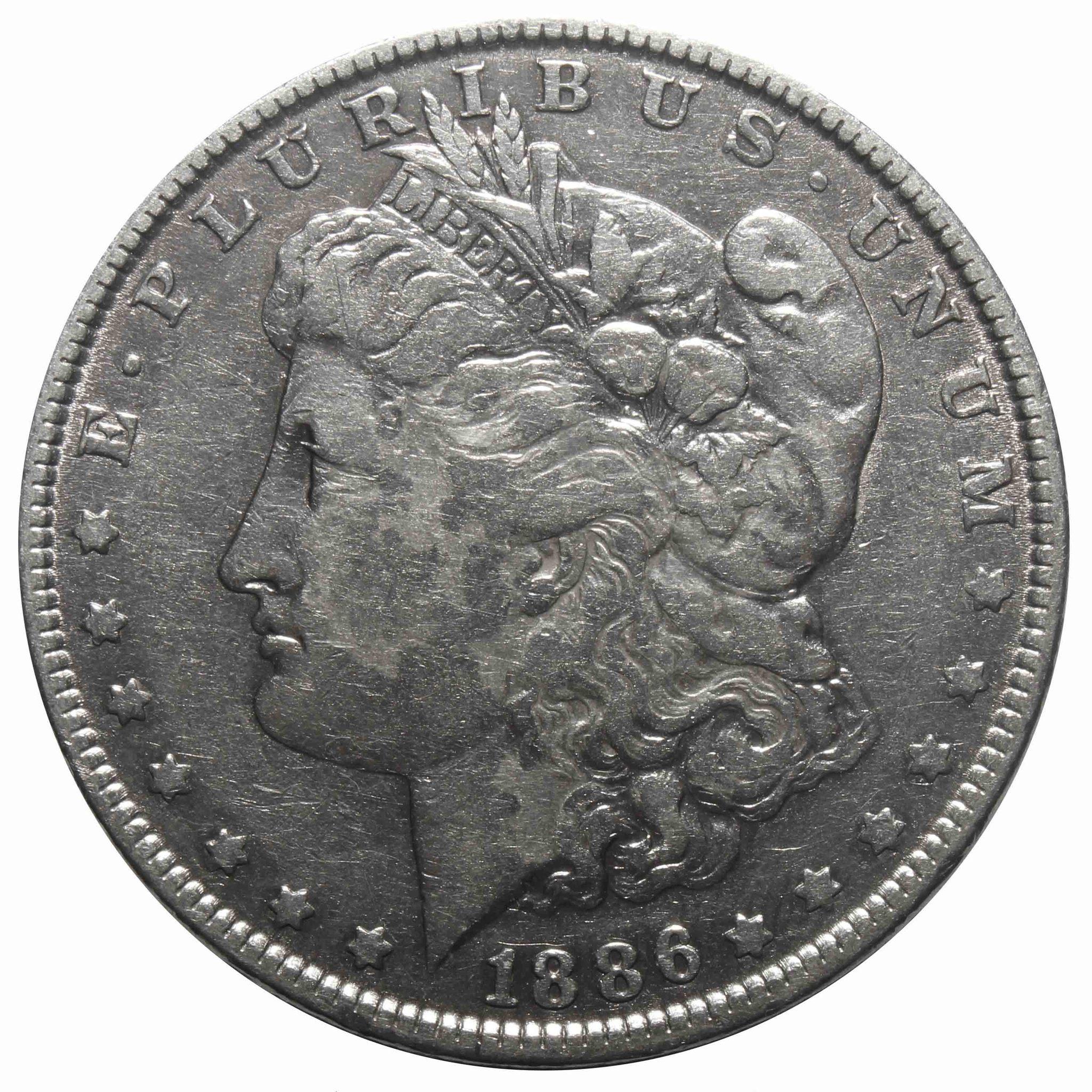 1 доллар США (Морган) 1886 год. VF-XF