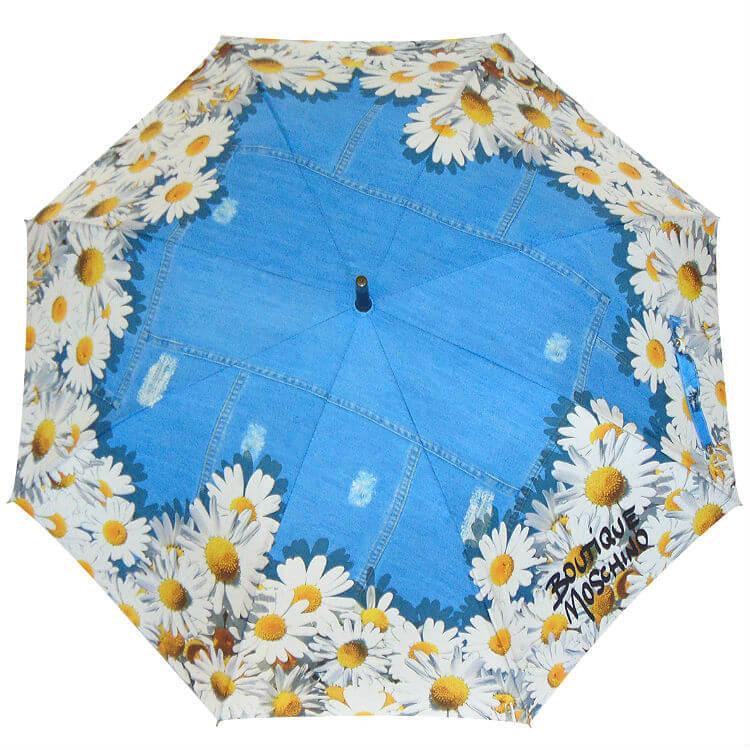 Зонт-трость Moschino Boutique 7029 Denim Daisies