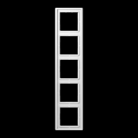 Рамка на 5 постов. Цвет Белый. JUNG LS 990. LS985WW