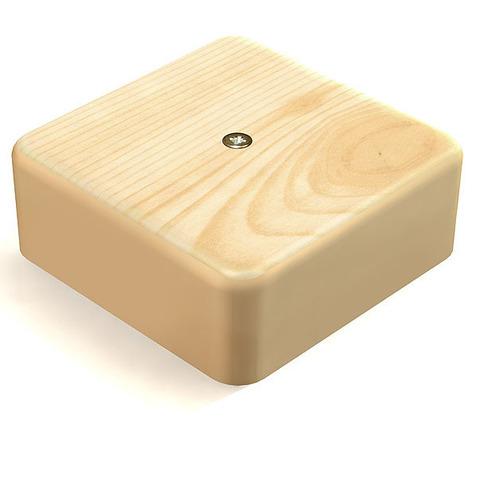 SD Коробка 1 постовая распред. 75х75х20 c текстурой дерева. Цвет Сосна. Ecoplast (ЭКОПЛАСТ). 72908P