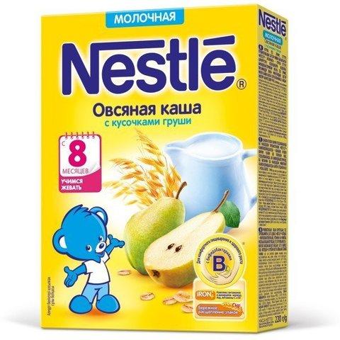 Nestlé® Молочная овсяная каша с кусочками груши