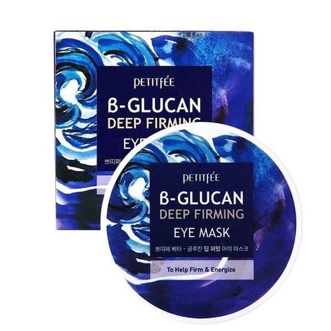Патчи для области вокруг глаз укрепляющие с бета-глюканом Petitfee Glucan Deep Firming Eye Mask 60шт