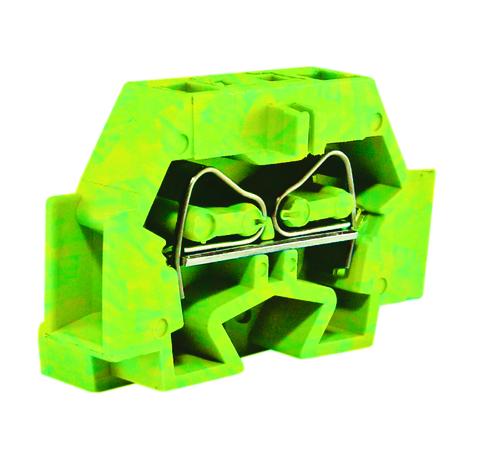 Микроклемма модульная МКМ 1,5мм2 желто-зеленая TDM