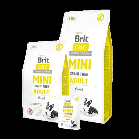 Brit Care GF Mini Adult Lamb Сухой корм для собак мелких пород Ягненок беззерновой