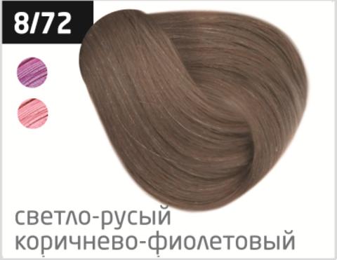 OLLIN silk touch 8/72 светло-русый коричнево-фиолетовый 60мл безаммиачный стойкий краситель для волос
