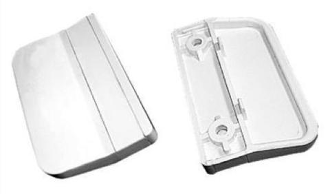 Ручка балконная металлическая (плоская) белая