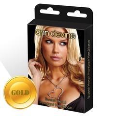 Цепочка с большой подвеской-сердцем (GOLD)