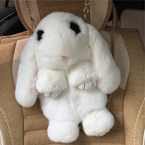 Сумка - заяц из натурального меха 30 см.