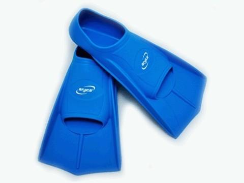 Ласты для плавания в бассейне. Размер 43-44. Цвет синий, жёлтый. :(DF10):