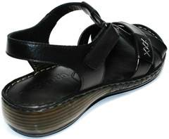 Босоножки женские без каблука Evromoda 15 Black.