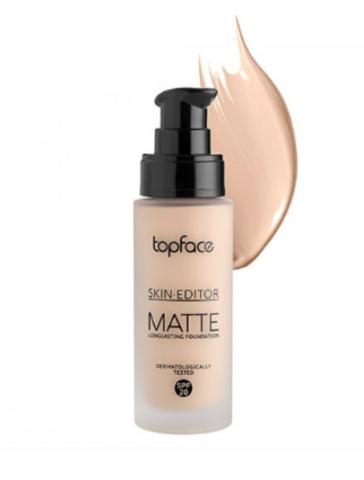 TopFace Тональная основа матовая Skin Editor Matte тон 04, слоновая кость- PT465 (32мл)