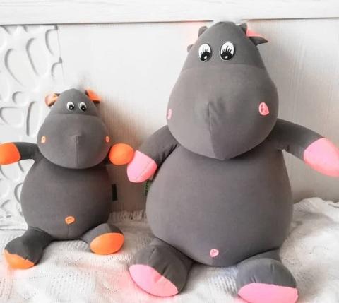 Подушка-игрушка антистресс «Бегемот малыш Няша», оранжевый 5