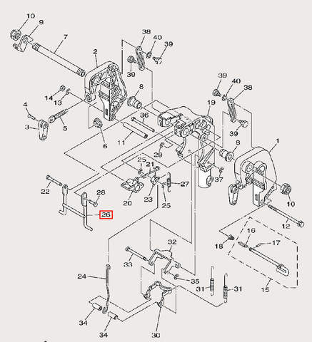 Стойка опорная для лодочного мотора F9,9 Sea-PRO (21-26)