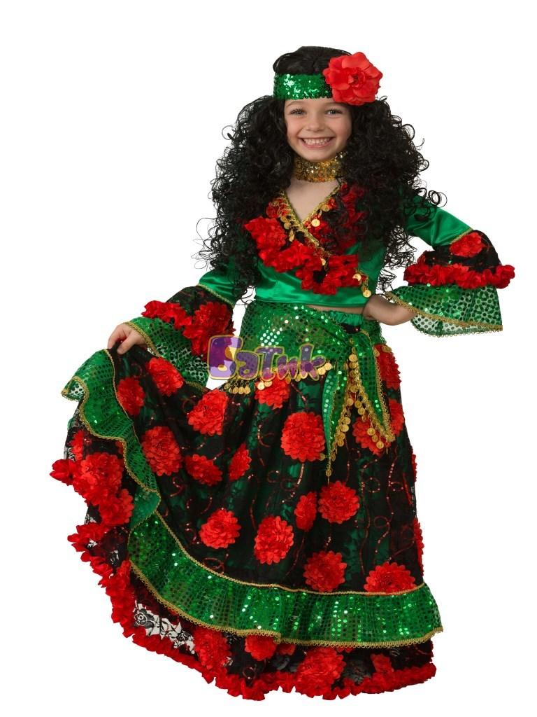Карнавальный костюм Цыганка-гадалка зеленая