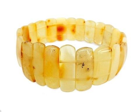 браслет из натурального жёлтого янтаря