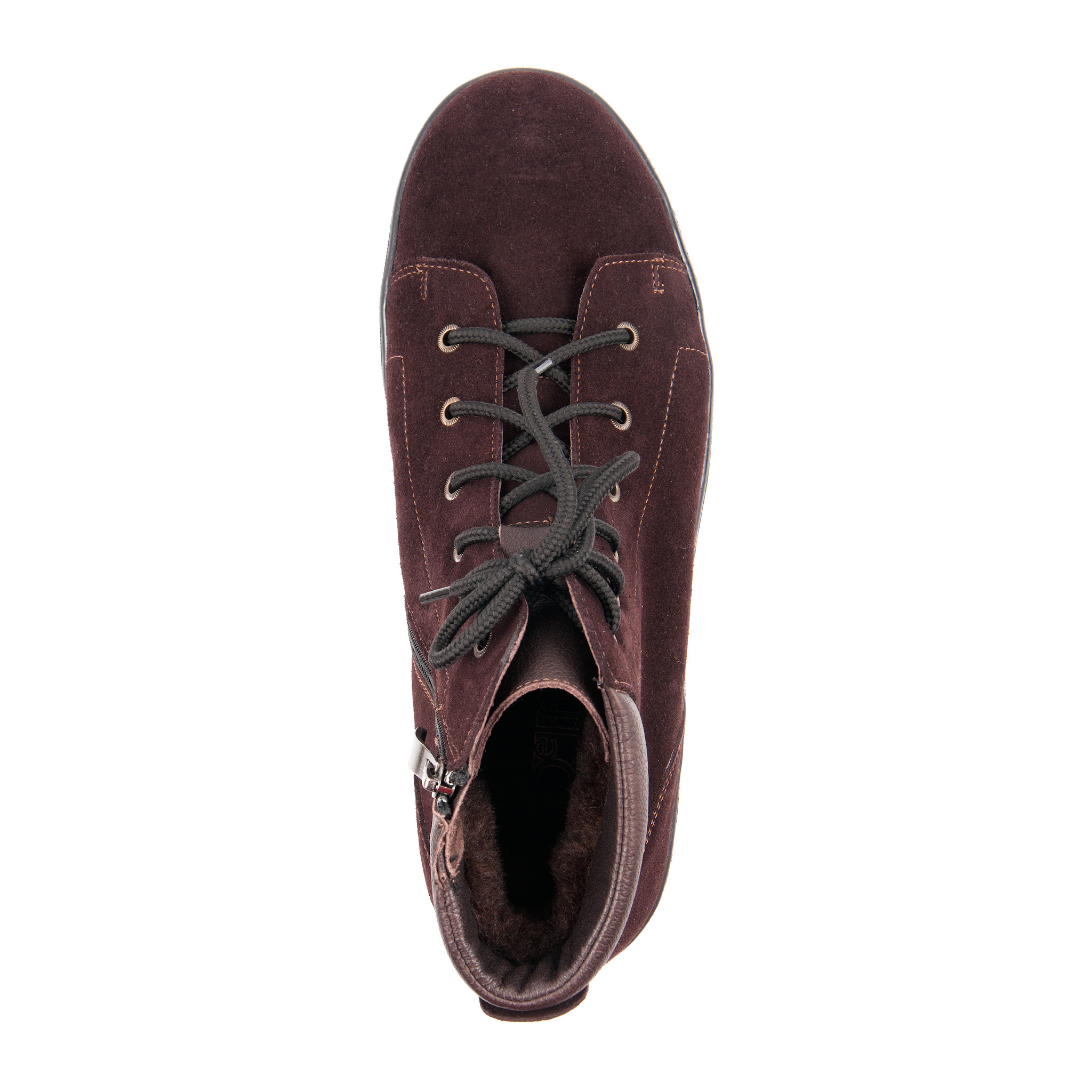 561359 ботинки женские коричневые больших размеров марки Делфино