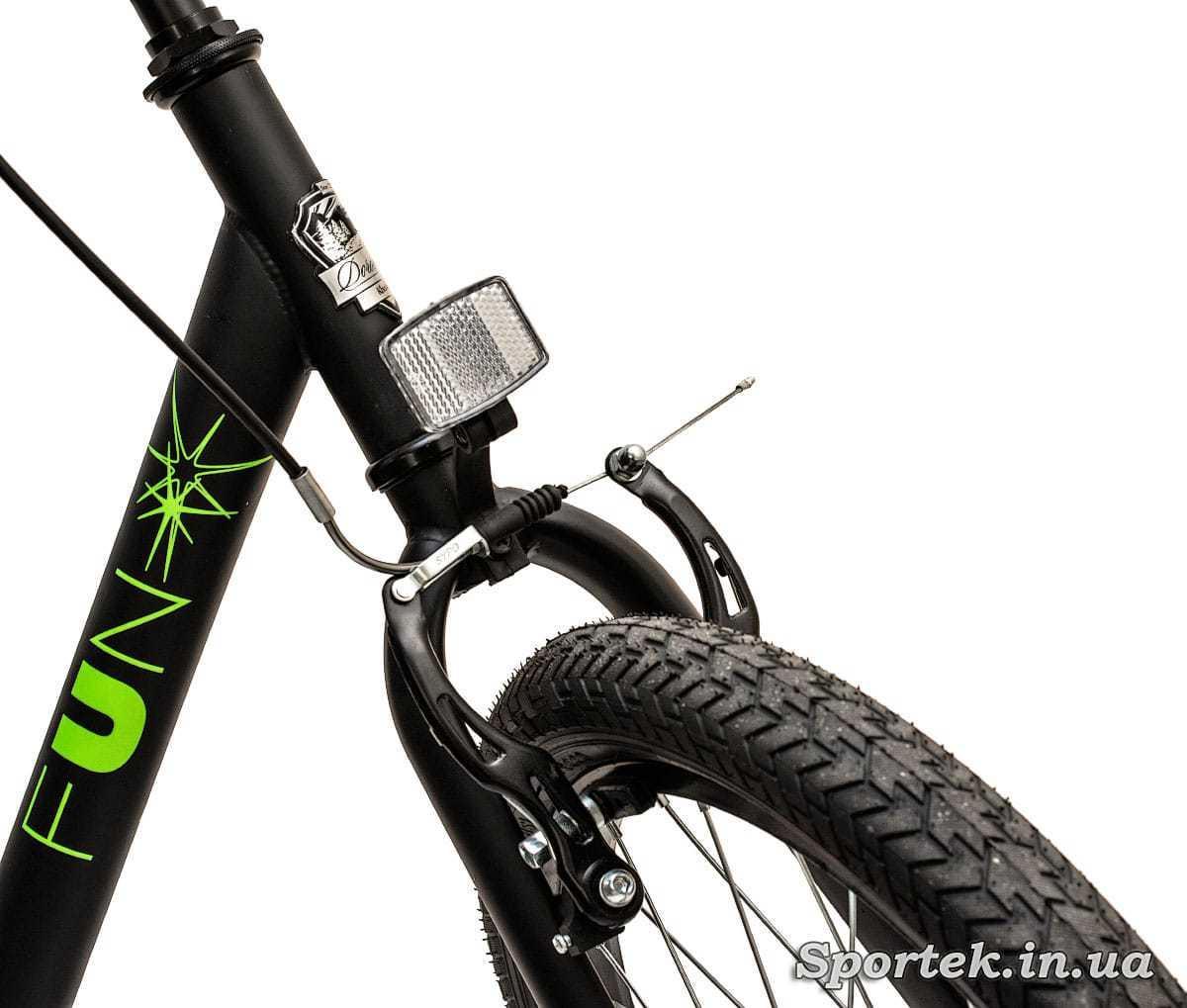 Передні колесо і гальмо складного підліткового велосипеда Dorozhnik Fun 2016