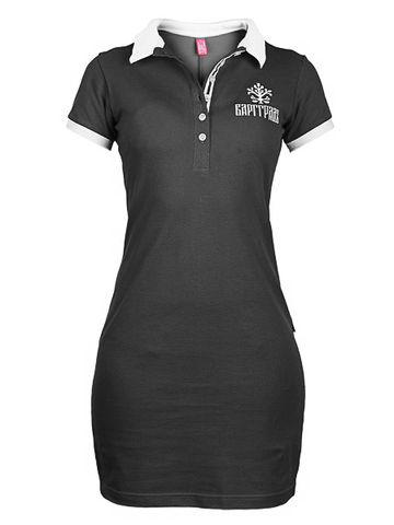 Black Polo-dress
