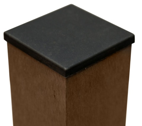 Столб заборный с крышкой  Размер: 1900 х 90 х 90 мм