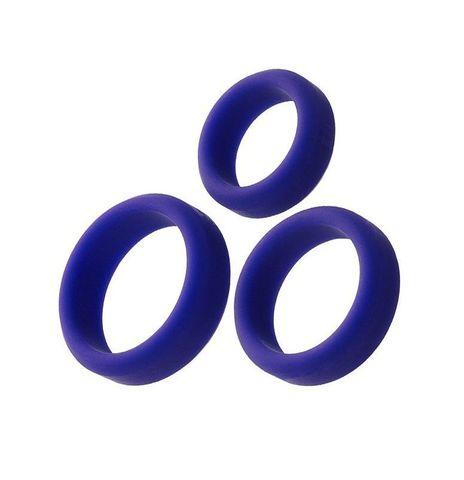 Набор из 3 фиолетовых эрекционных колец A-Toys