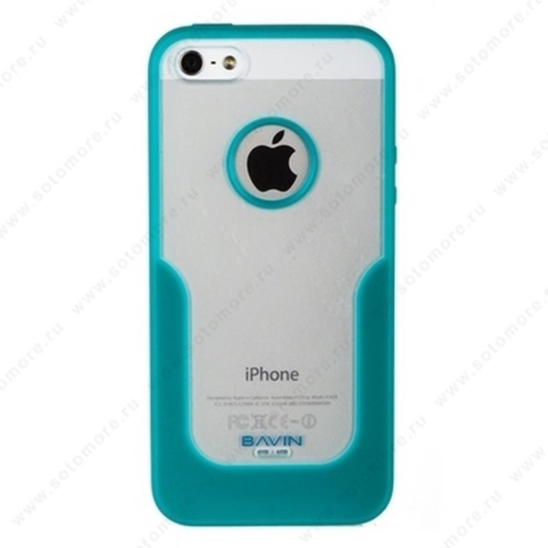 Накладка R PULOKA для iPhone SE/ 5s/ 5C/ 5 с подковой бирюзовая