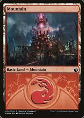 Mountain (Ravnica Weekend #A04 Izzet Foil, English) NM