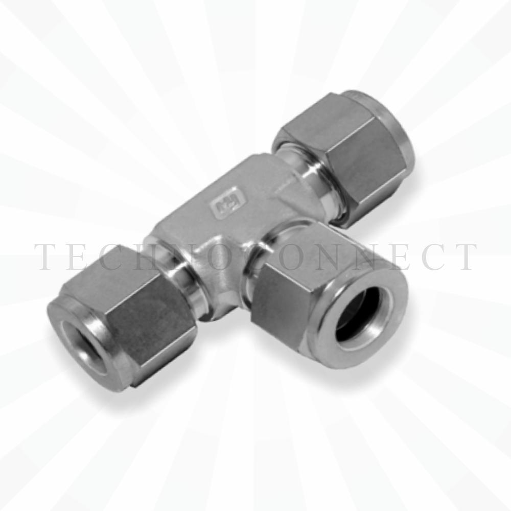 CTA-6M  Тройник равнопроходной: метрическая трубка 6 мм
