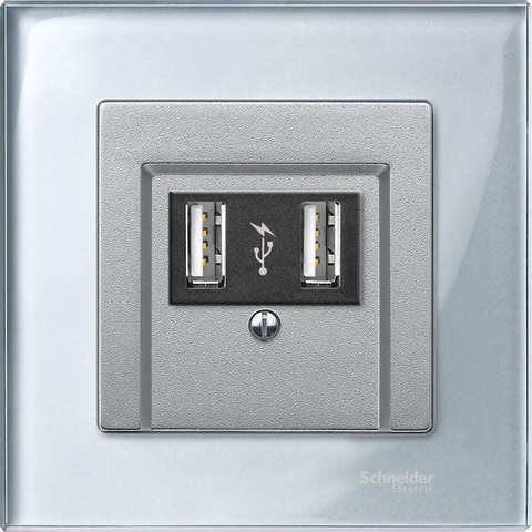 Рамка на 1 пост. Цвет Алмаз. Merten. M-Elegance System M. MTN4010-3260