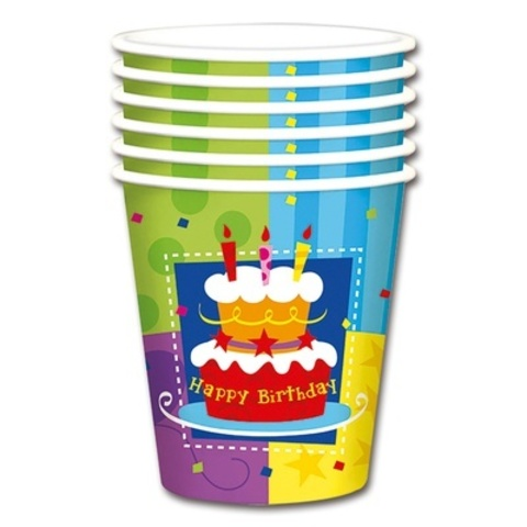 Стакан Торт Birthday 190мл 6шт