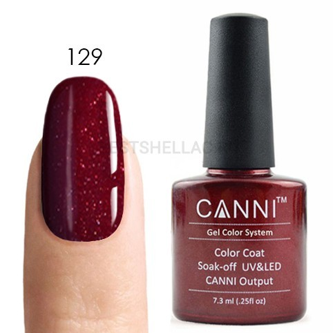 Canni Canni, Гель-лак № 129, 7,3 мл 129.jpg
