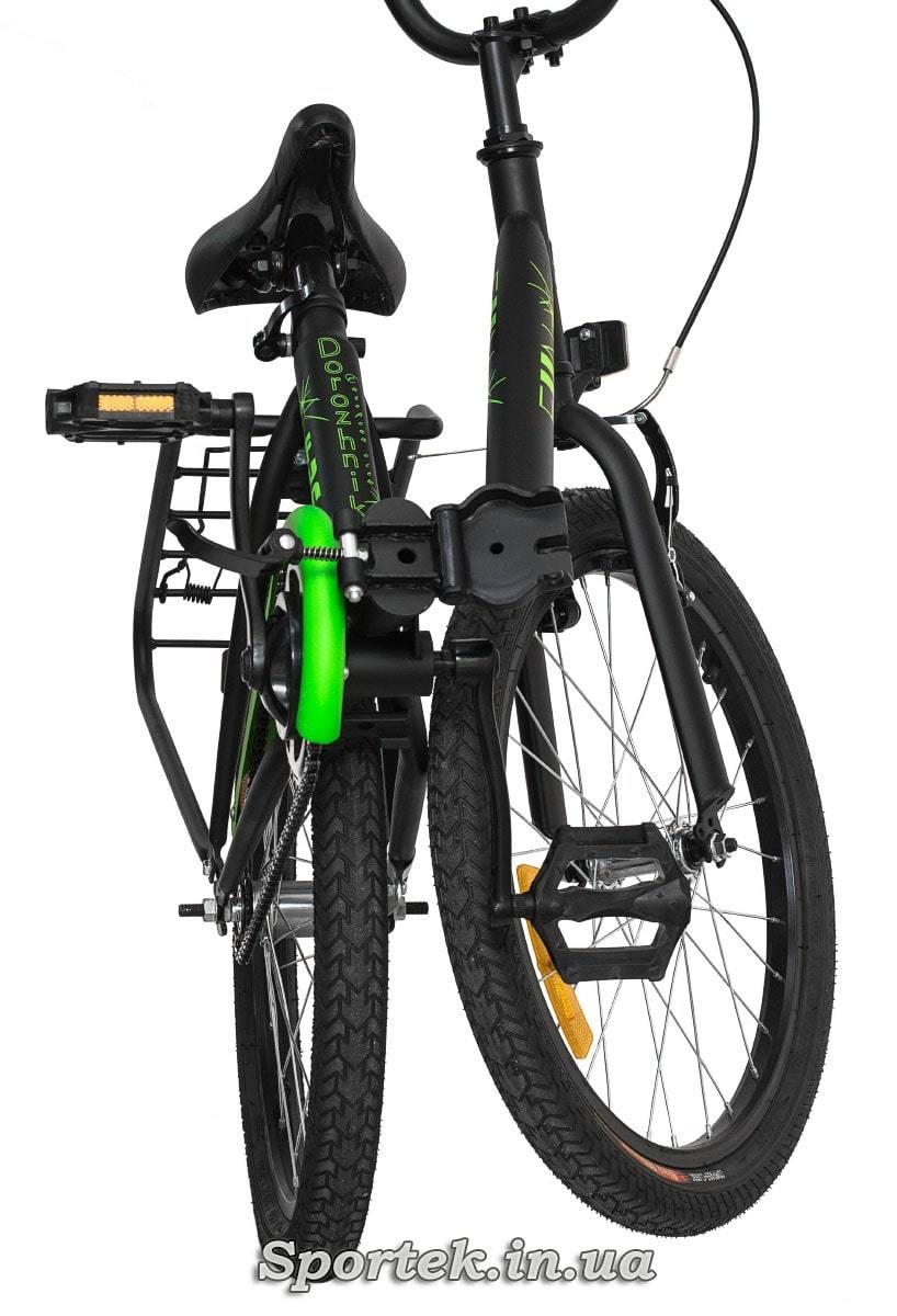 Вид спереду на складений підлітковий велосипед Dorozhnik Fun 2016