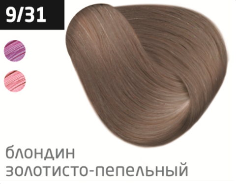 OLLIN silk touch 9/31 блондин золотисто-пепельный 60мл безаммиачный стойкий краситель для волос