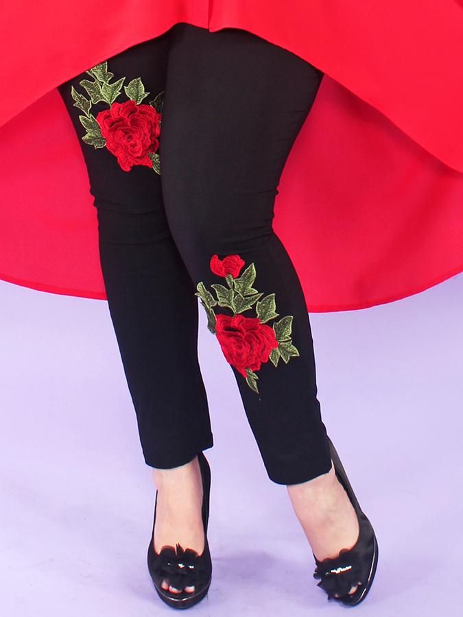 Брюки Бенгалин с розами