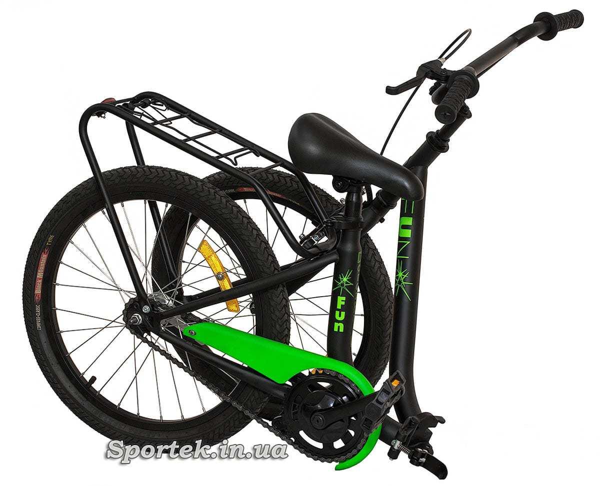 Вид на складений підлітковий велосипед Dorozhnik Fun 2016