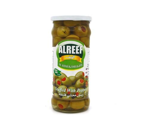 Оливки зеленые с перцем Al Reef, 360 г