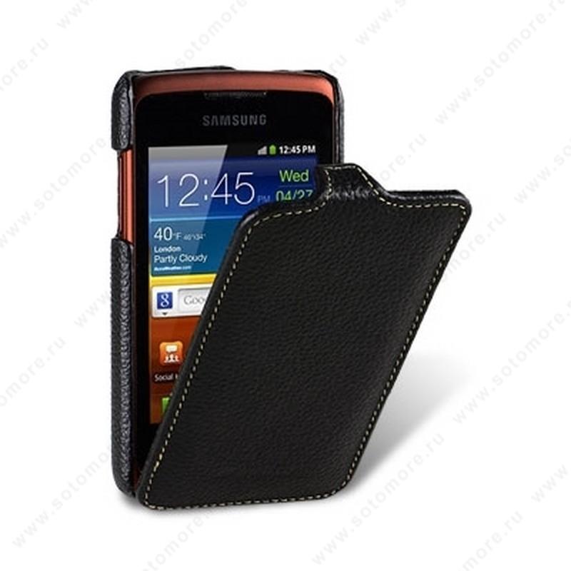 Чехол-флип Melkco для Samsung Galaxy Xcover S5690/ Galaxy Xtreme S5690 Leather Case Jacka Type (Black LC)