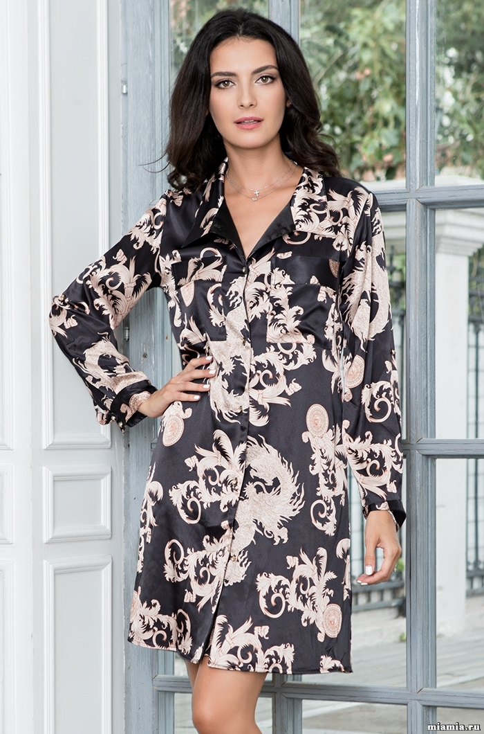 Сорочки ночные женские Рубашка платье женское  Mia-Amore  VERSACHI GOLD 9937 9937.jpg