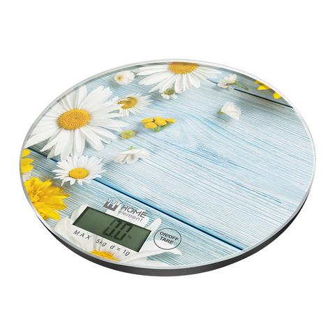 Весы кухонные сенсор HOME ELEMENT HE-SC933 {temp} летние цветы