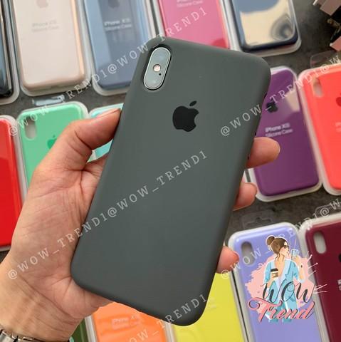 Чехол iPhone 7+/8+ Silicone Case Full /charcoal grey/ уголь