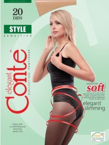 Conte Style Колготки женские 20d, p.4 natural