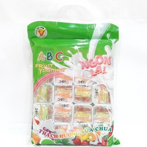 Йогурт-желе с кусочками фруктов - Коробка 12х444 гр.