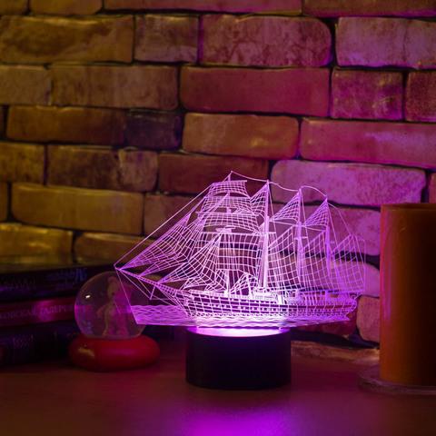 3D лампа Парусник