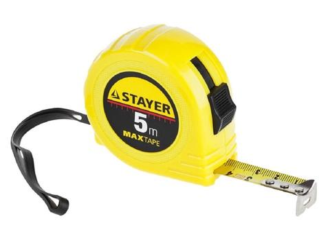 STAYER MaxTape 5м / 19мм рулетка в ударопрочном корпусе из ABS